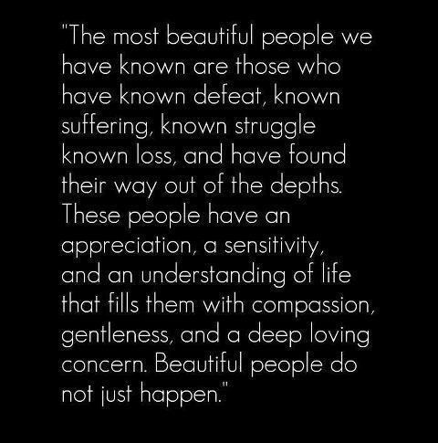 A little statement about beautiful people